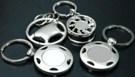 porte-clés avec différentes finitions